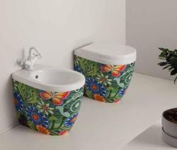 YOUNG vaso + bidet a terra tropical - Bagno Italiano