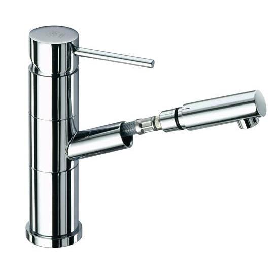 Simply miscelatore monocomando per lavabo con doccia estraibile bagno italiano - Miscelatore bagno con doccetta ...