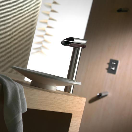 Morgana rubinetto monocomando lavabo tipo alto s scarico finitura cromo bagno italiano - Rubinetto bagno alto ...