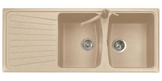 SPAZIO 116.20 Lavello cucina a due vasche più scolapiatti finitura ...