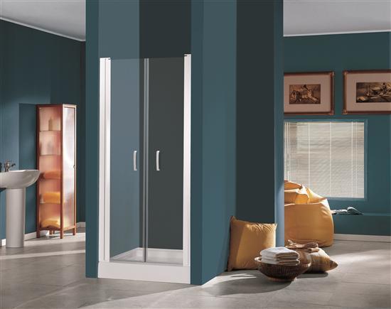 New drop porta doccia a saloon cromo vetro trasparente - Porta doccia saloon ...