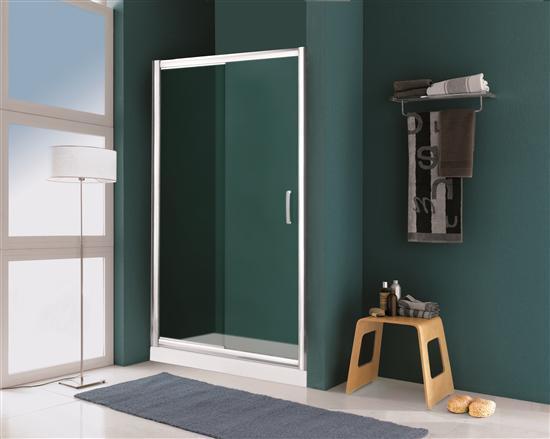 Extra porta doccia scorrevole cromo vetro trasparente 6 - Porta scorrevole bagno ...