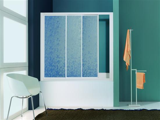 Paradise parete vasca 3 ante bianco pannelli polystyrene 156 160 bagno italiano - Pannelli vasca da bagno ...