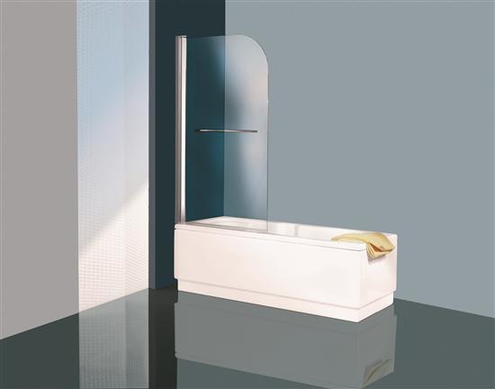 New olympic parete vasca 1 anta con maniglione bianco vetro trasparente cm 75 bagno italiano - Vetro vasca bagno ...