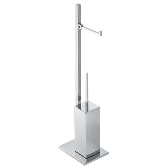 Cube piantana porta rotolo e scopino bagno italiano - Porta scopino bagno ...
