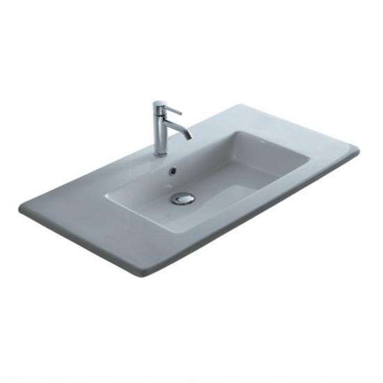 Plus design lavabo incasso soprapiano cm 106 bagno italiano - Lavabo da incasso bagno ...