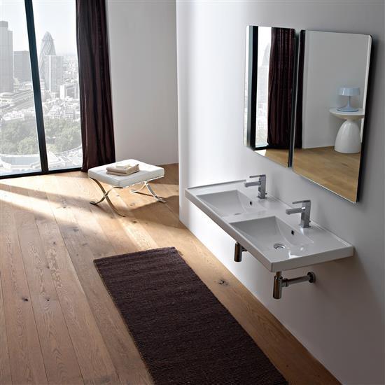 Ml 120x40 lavabo da incasso o sospeso bagno italiano - Lavabo da incasso bagno ...