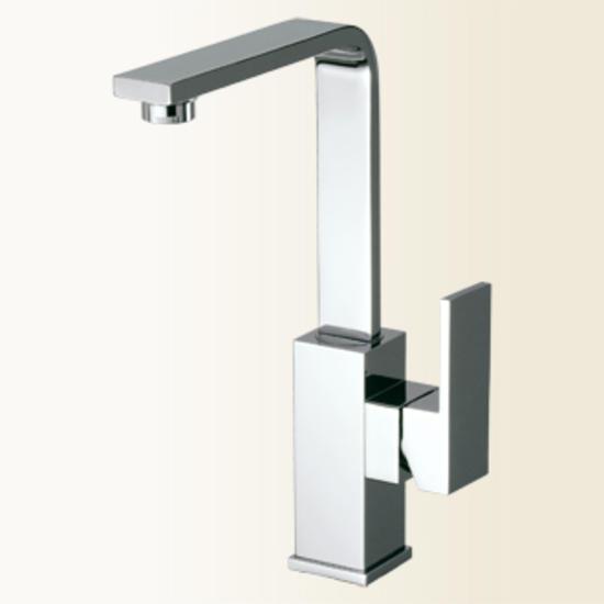 New space miscelatore monocomando per lavabo con canna alta finitura cromo bagno italiano - Miscelatori bagno canna alta ...