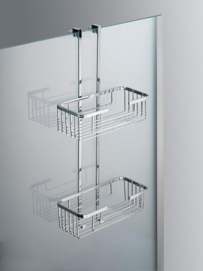 Tech mensola rettangolare bagno italiano - Portasapone doccia senza forare ...