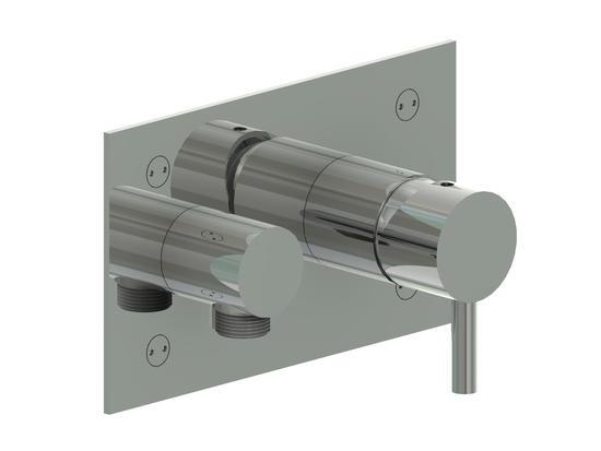 Minimal miscelatore doccia a muro in acciaio inox finitura