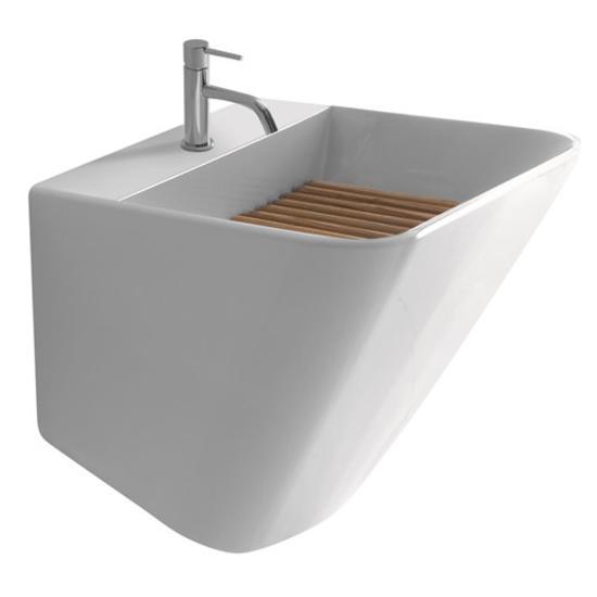 MEG11 lavabo-lavatoio finitura bianco - Bagno Italiano