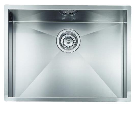 MAKI - INCASSO SLIM Lavello monovasca 570x450 in acciaio inox ...