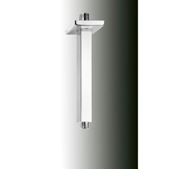 Braccio soffione quadrato soffitto bagno italiano - Soffione doccia a soffitto ...