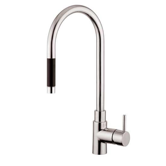 Inox rubinetto inox miscelatore cucina con doccino - Rubinetto estraibile bagno ...