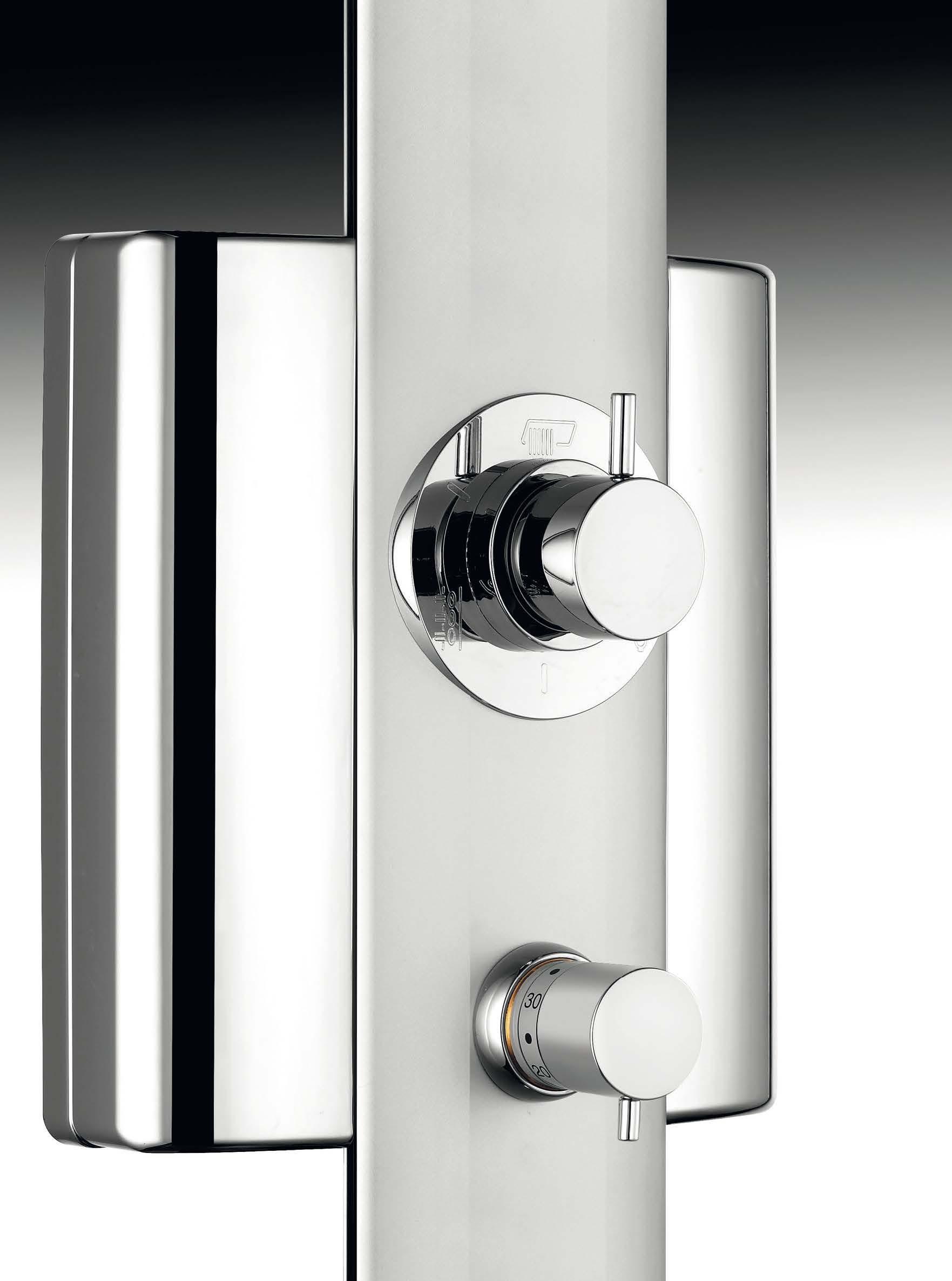 Sfera pannello doccia con miscelatore termostatico finitura satinato bagno italiano - Bagno termostatico ...