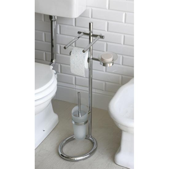 Pitagora piantana quattro funzioni portasapone bagno for Piantane per bagno