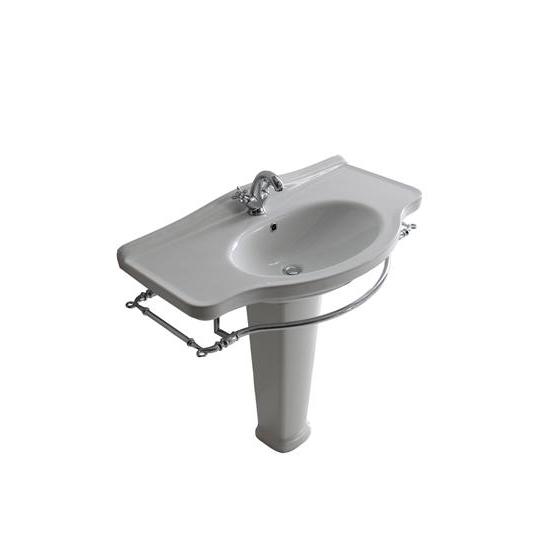Ethos lavabo cm 110 monoforo colonna bagno italiano - Bagno largo 110 cm ...