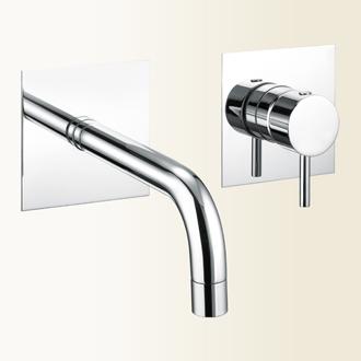 Simply miscelatore per lavabo ad incasso con bocca a - Miscelatore a parete bagno ...