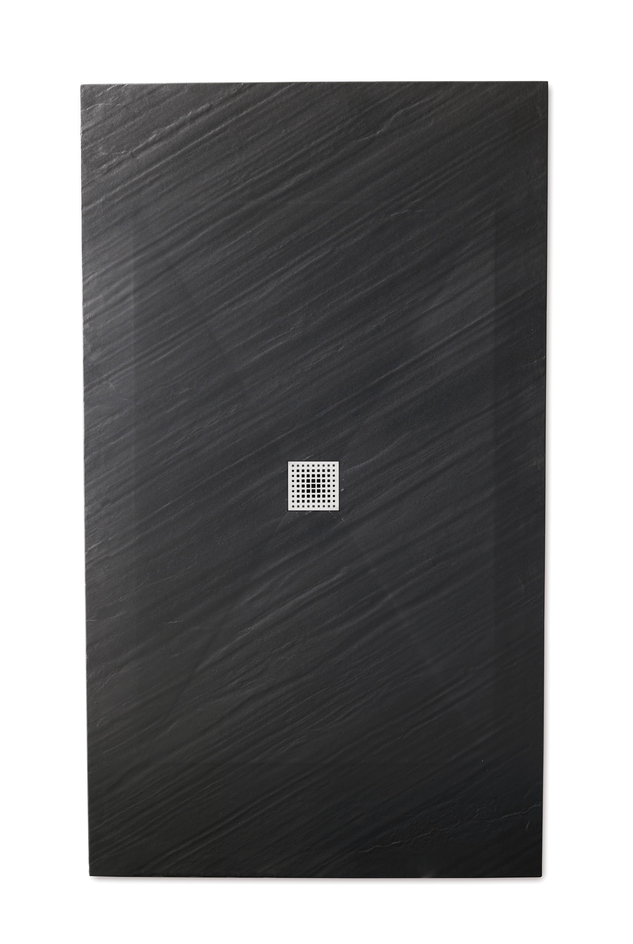 Piana piatto doccia ultra flat 3 cm in mineralstone - Piatto doccia nero ...