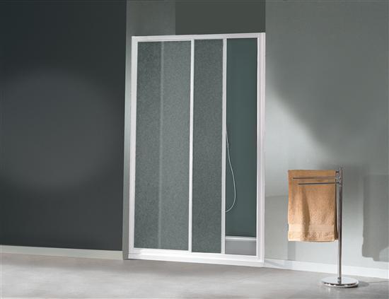 Grand cayman porta scorrevole a due ante bianco vetro - Porta scorrevole bagno ...