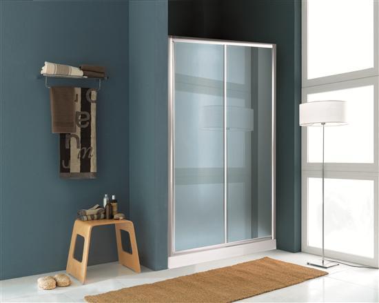 Paradise porta doccia scorrevole cromo vetro trasparente - Porta scorrevole bagno ...