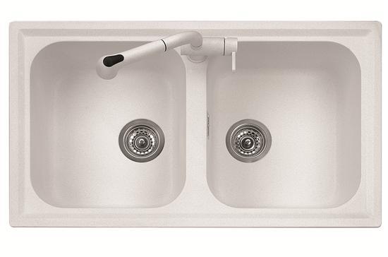 Atlantic lavello cucina a due vasche finitura - Lavelli cucina leroy merlin ...