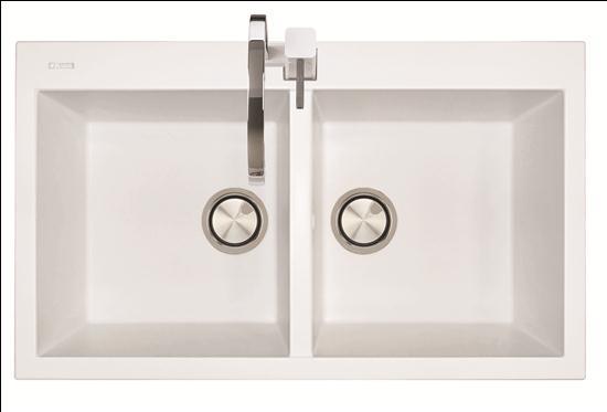 Elegance lavello cucina a due vasche finitura micro ultragranit 94 avena bagno italiano - Lavello cucina avena ...