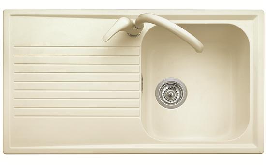 ATLANTIC 86.10 Lavello cucina ad una vasca più scolapiatti finitura ...