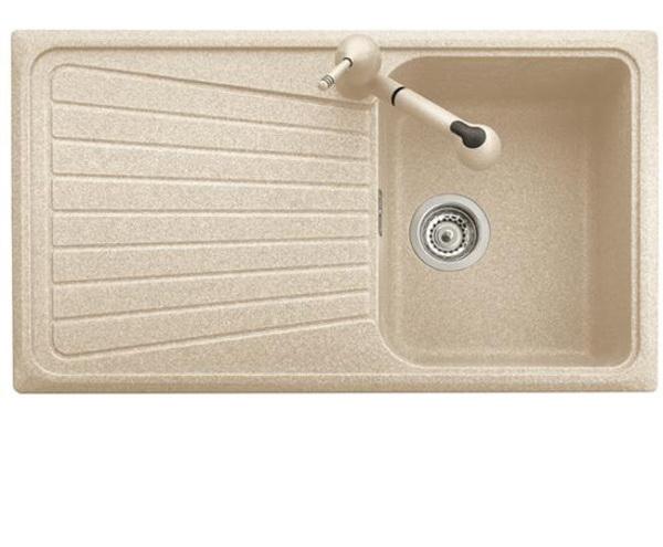Spazio lavello cucina ad una vasca pi scolapiatti finitura microultragranit 56 jasmine - Lavello cucina profondita 40 ...