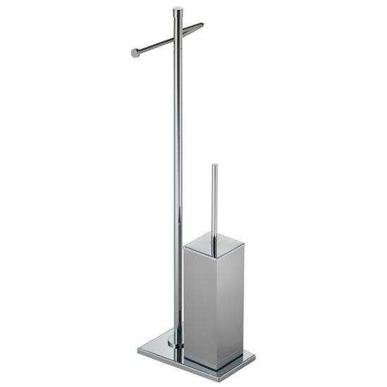 Tiffany piantana porta rotolo e porta scopino bagno italiano - Piantana portasalviette bagno ...