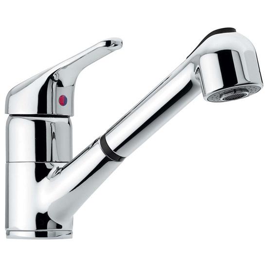 60 rubinetto cucina monocomando con doccia estraibile - Rubinetto cucina ...