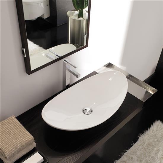 Zefiro lavabo da appoggio bagno italiano - Lavello bagno appoggio ...