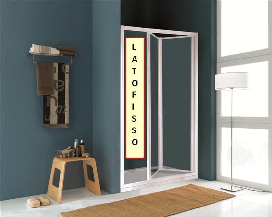 Paradise porta doccia a soffietto in linea bianco vetro - Porta doccia soffietto ...