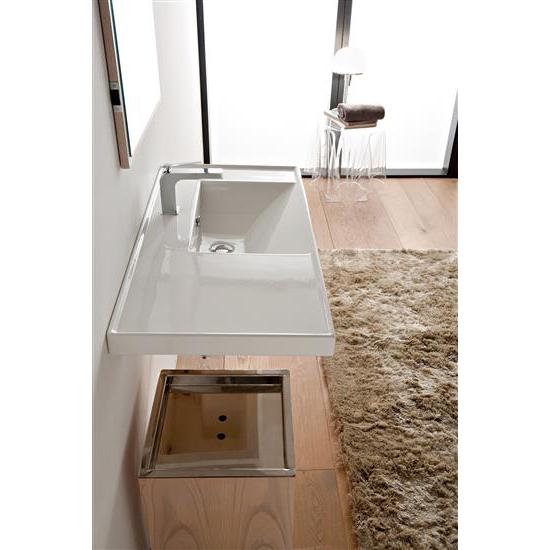 Ml 90x47 sx lavabo da incasso o sospeso bagno italiano - Lavabo da incasso bagno ...