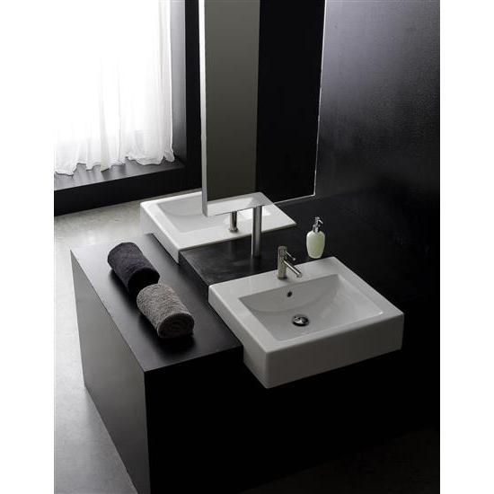 Square 60d lavabo da semincasso bagno italiano - Lavabo bagno semincasso ...