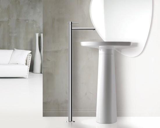 Simply miscelatore monocomando per lavabo vasca da terra finitura cromo bagno italiano - Miscelatore lavabo bagno ...