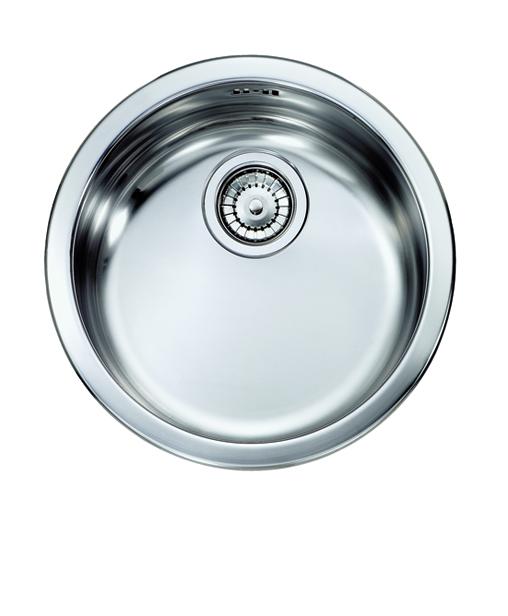 Vintage lavello in acciaio inox ad una vasca finitura satinato bagno italiano - Lavello cucina rotondo ...