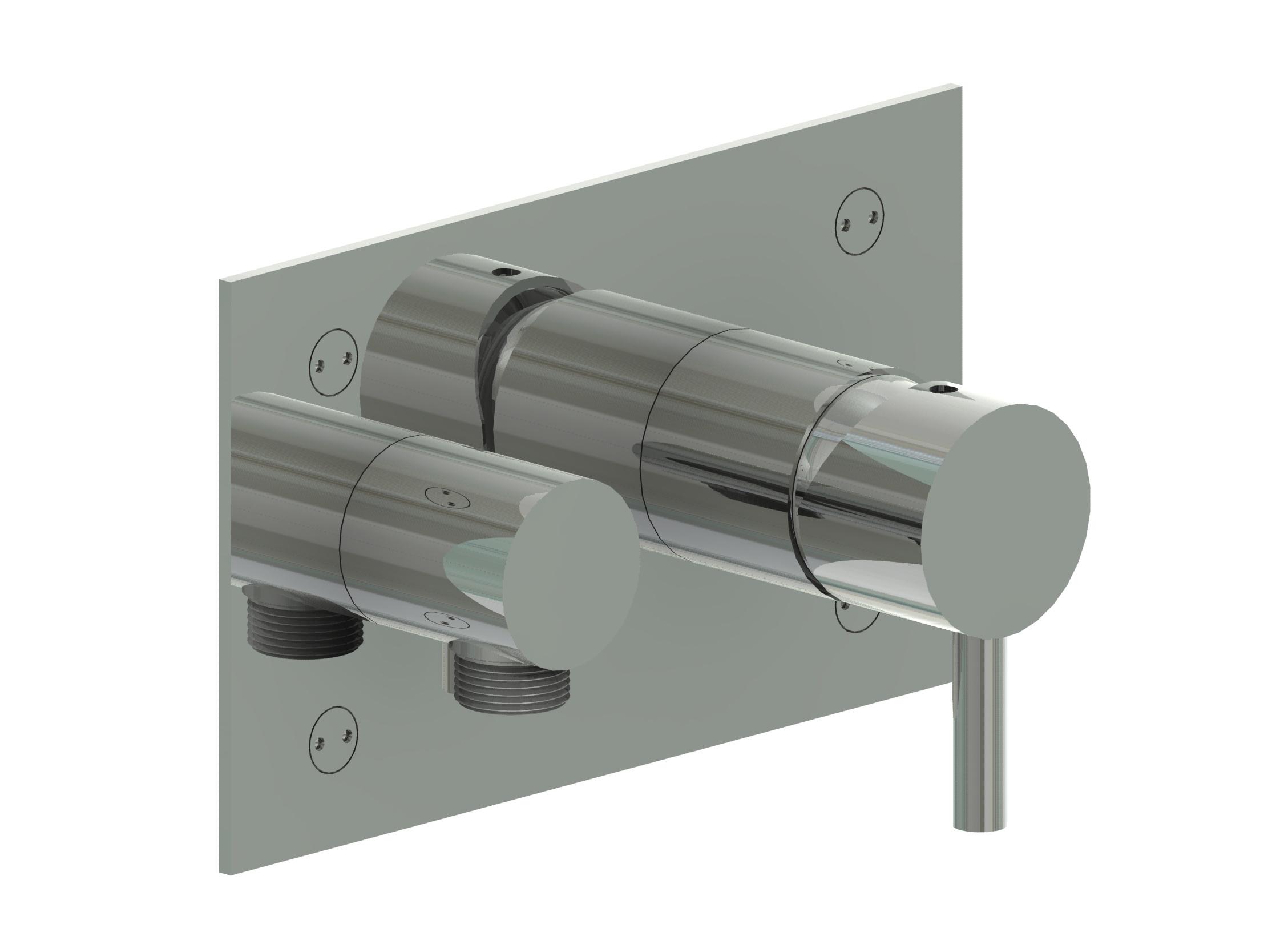 Minimal miscelatore doccia a muro in acciaio inox finitura satinato bagno italiano - Rubinetti a muro bagno ...