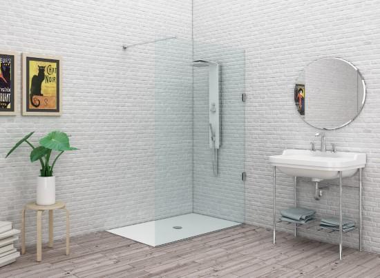 System glass sg2 parete doccia fissa per box doccia cm 48 - Box doccia vetrocemento ...