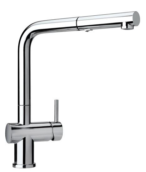 Cox miscelatore monoforo lavello con canna alta e doccino estraibile finitura cromo bagno italiano - Miscelatori bagno canna alta ...