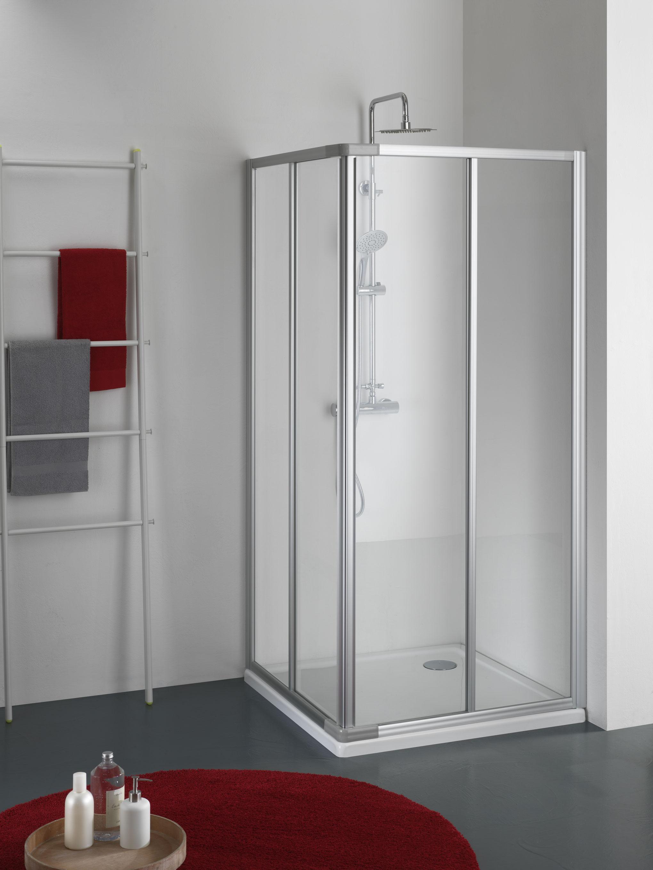 Adria box doccia angolare scorrevole finitura bianco 70 cm ...