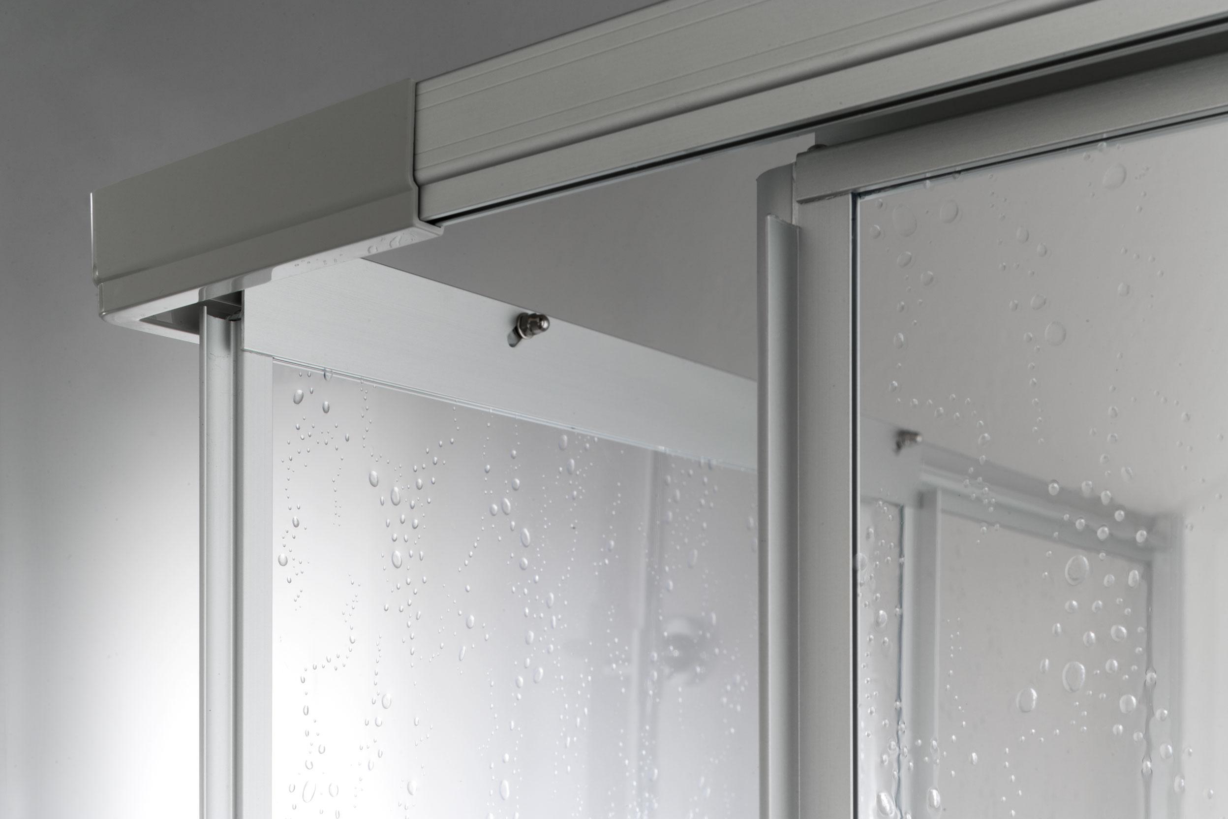 Brio box doccia angolare scorrevole finitura bianco 80 cm ...