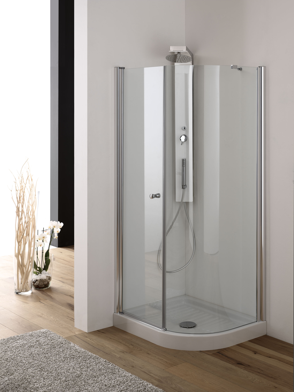 GEMINI Box doccia asimmetrico 70x90 bianco - Bagno Italiano