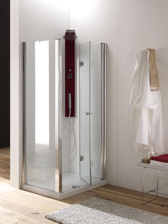 Hidra door porta pieghevole finitura cromo 90 cm trasparente bagno italiano - Porta pieghevole ...