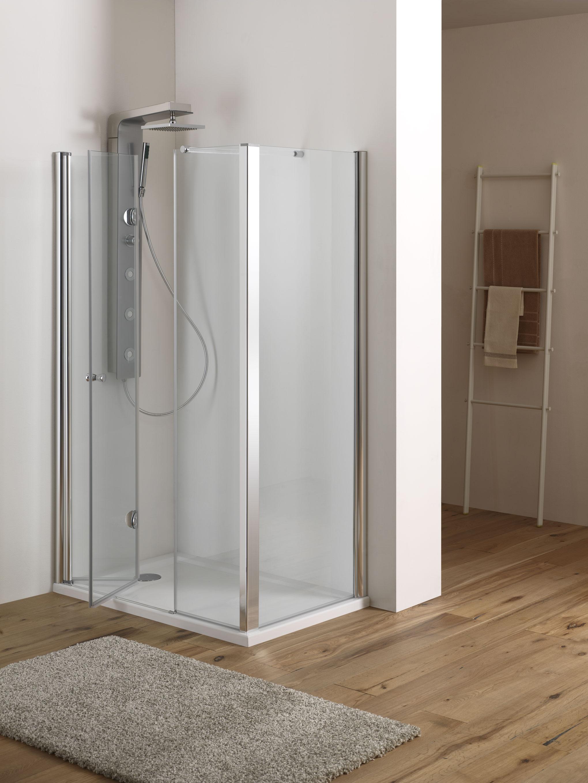 Mira door porta battente pieghevole finitura cromo 110 cm - Porta doccia pieghevole ...