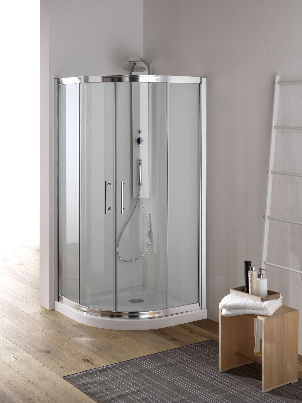 YUMI Box doccia Circolare scorrevole finitura bianco 80 cm ...