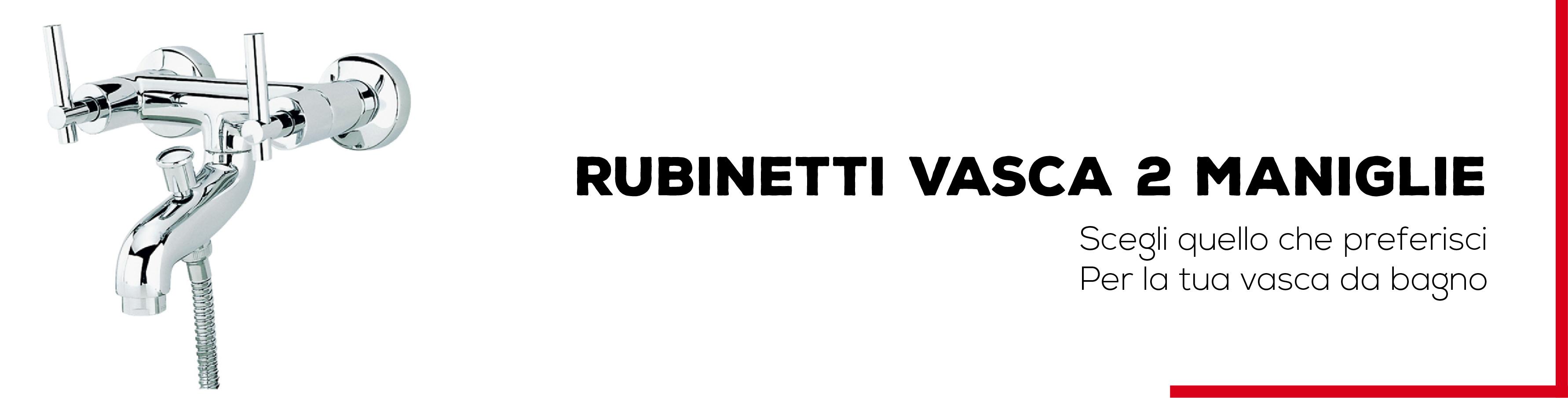 Rubinetti vasca 2 maniglie bagno italiano - Rubinetti per vasca da bagno ...