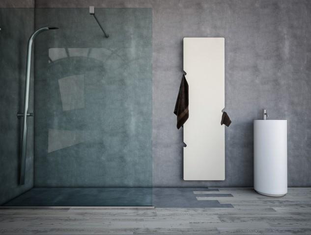 Feel termoarredo in acciaio h 1430 x l 530 finitura bianco ral9016l bagno italiano - Prezzo termoarredo bagno ...