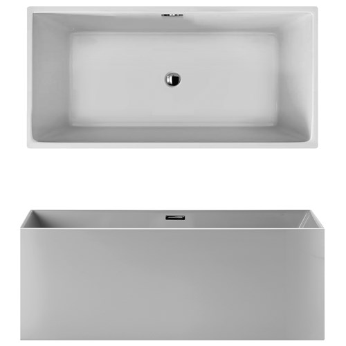 Quadra vasca freestanding finitura bianco bagno italiano - Vasca da bagno ceramica ...