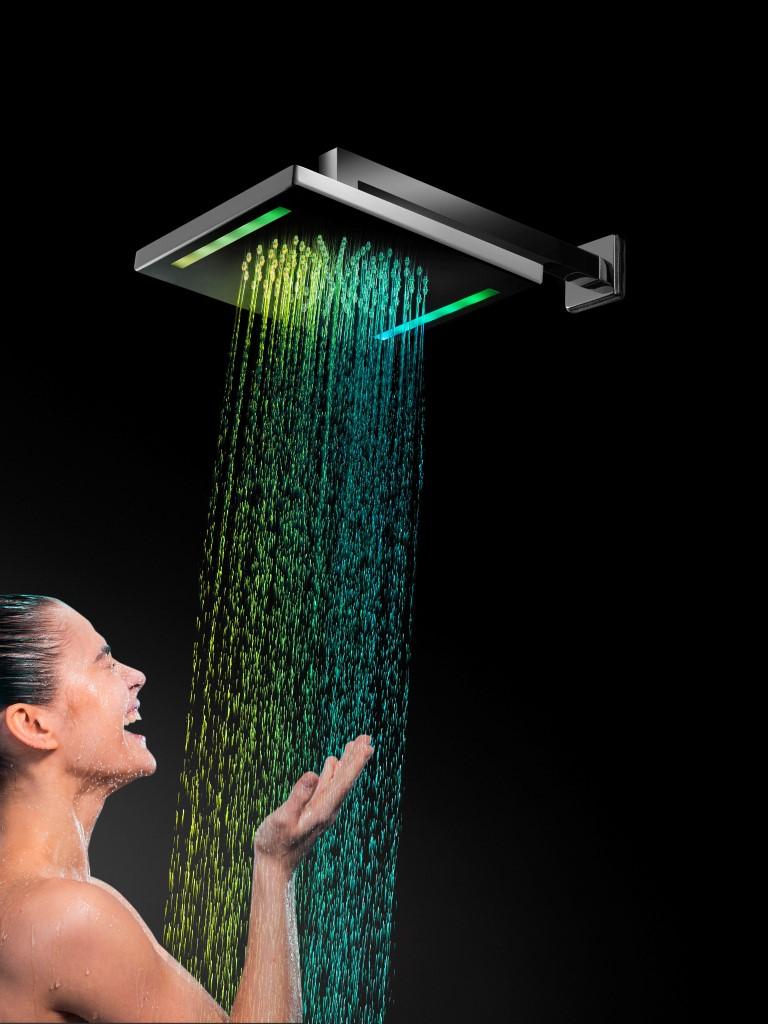 BAGNO ITALIANO IRIS soffione doccia in acciaio inox a led cm
